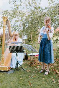 Harfe und Violine